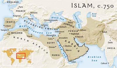 islamitische staat kaart